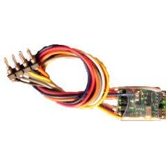 """NCE #5240130 (Z14SRP) N Scale Tiny generic decoder (Wired), NMRA 8 pin plug, 4 function, .34 x .56 x .12"""""""