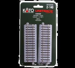 """Kato #2-140 123mm (4 7/8"""") Straight Track [4 pcs]"""