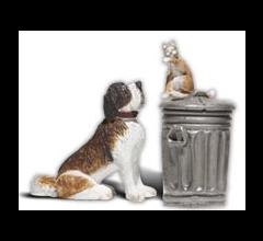 Woodland Scenics A2524 Dog w/Cat on Trashcan