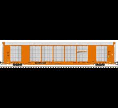 Atlas #20005659 HO Gunderson Multi Max Auto Rack BNSF Orange #696248
