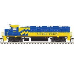 Atlas #10002676 HO NRE Genset II Locomotive DCC Ready -Metro Ports/Port of LA (Blue/Yellow) #805