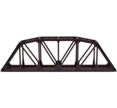 "Atlas #593 HO 18"" Through Truss Bridge Kit - Code 83 Black"