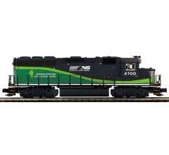 MTH #20-20839-1 GP-40 Diesel Engine w/Proto-Sound 3.0 (Hi-Rail Wheels) - Norfolk Southern (ECO) #4700