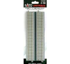 """Kato #2-153 246mm (9 3/4"""") Concrete Tie Feeder track w/ Cable"""