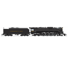 """Broadway Limited #4906 C&O J3a 4-8-4 Greenbrier Brass Hybrid #614 Excursion Service """"Chesapeake & Ohio"""" Lettering w/ Paragon3 Sound/DC/DCC HO"""