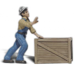 Woodland Scenics A2523 Dock Worker with Crate