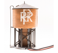 Broadway Limited #6135 Operating Water Tower w/ Sound w/ PRR Logo Weathered Brown