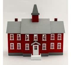 MODEL POWER #6376 Little Red School House Built-up