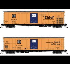 Rapido #156004A Santa Fe RR-56 Mechanical Reefer: Chief Slogan