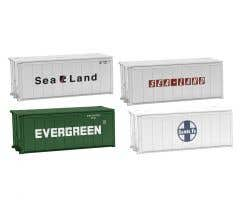 Lionel HO #1957280 20' Shipping Containers 4 Pk- Set A