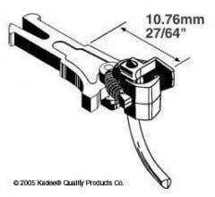 """Kadee #19 NEM 362 long coupler 10.76mm (.400"""")"""