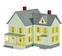 Model Power #780 Built-Up Buildings Lighted w/Two Figures - Dr. Andrews House