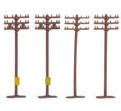 Bachmann #42506 Telephone Poles (12 pieces)