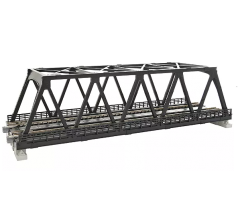 "Kato #20-438 248mm (9 3/4"") Double Track Truss Bridge, Black"