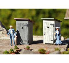 PIKO #62719 Outhouse 2 Pack Built Up
