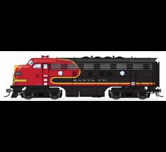 "Broadway Limited #6670 EMD F3A ATSF #2233 ""Black Bonnet"" Scheme w/Sound/DC/DCC (Trainworld Exclusive)"