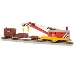 Bachmann #16104 250-Ton Steam Crane & Boom Tender - Canadian National