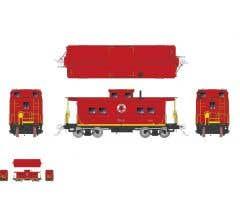 Rapido #144007 HO Northeastern-style Steel Caboose: LNE - Red Scheme