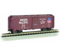 Bachmann #17053 40' Steel Box Car - UP - Automated Railway