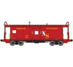 Bluford Shops #42071 N Scale International Car Bay Window Caboose Phase 2 Original Norfolk Southern Red #383
