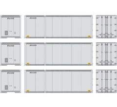 Athearn #17429 28' Containers UPS #2 (3 pcs)