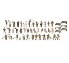 Lionel HO #1967100 Unpainted Figure Asst- 48pk