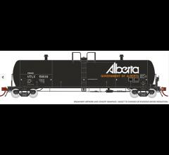 Rapido #135009A Procor 20K gal Tank Car: UTLX Gov. of Alberta As Delivereda