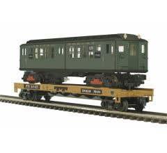 MTH #20-95329 TTX - Flat Car w/LoV Subway Car