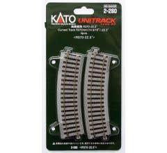 """Kato #2-280 370mm (14 9/16"""") Radius 22.5º Curve Track R370-22.5(4 pcs)"""