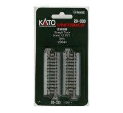 """Kato #20-030 64mm (2 1/2"""") Straight Track [2 pcs]"""