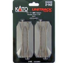 "Kato #2-142 123mm (4 7/8"") Road Crossing + Rerailer track [2 pcs]"