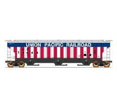 Intermountain #653102 4750 Cubic Foot 3 Bay Covered Hopper - Union Pacific Bicentennial