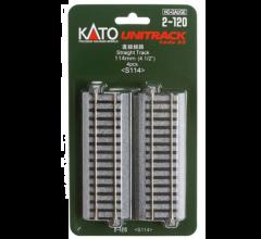 """Kato #2-120 114mm (4 1/2"""") Straight Track [4 pcs]"""