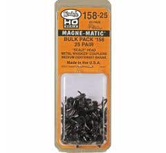 "Kadee #158-25 ""Scale"" All Metal Self-Centering WHISKER Coupler - Medium (9/32"") Centerset Shank (25 Pairs)"