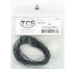 TCS #1219 32 Gauge Black 20' length wire
