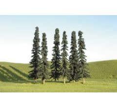 "Bachmann #32155 2"" - 4"" Conifer Trees"