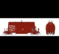 Rapido #143001A HO Long Barrel Ore Hopper- CN Mineral Brown
