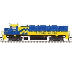 Atlas #10002687 HO NRE Genset II Locomotive with ESU Sound-Metro Ports/Port of LA (Blue/Yellow) #805