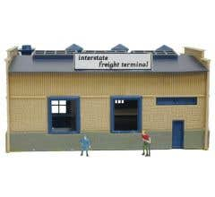 Model Power #2583 CF Truck Depot Assembled Building - Lighted with 2 handpainted figures