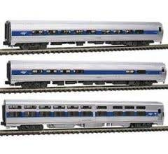 Kato #106-6286 Amfleet, Viewliner Intercity Express Phase VI 3-Car Set
