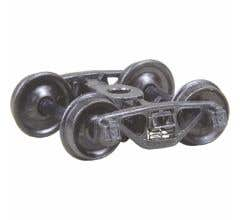 """Kadee #504 A.S.F.® Ride Control® 50 Ton Trucks with 33"""" Smooth Back Wheels - Metal Fully Sprung"""
