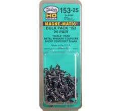 "Kadee #153-25 Bulk Pack of 153 Metal ""Scale"" Short Whisker Couplers (25 Pairs)"