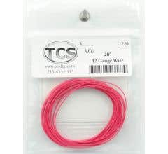 TCS #1220 32 Gauge Red 20' Length Wire