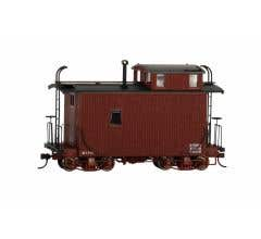 Bachmann #26566 Spectrum On30 Logging Caboose - Oxide Red