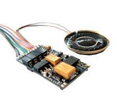 ESU #56499 ESU 56499 LokSound V4.0 Universal Sound For Reprogramming NMRA DCC Sound Decoder NEM651 6-pin Wired Plug
