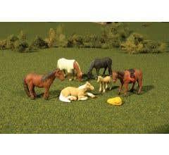 Bachmann #33119 HO HORSES 6 Pcs/Pk