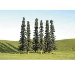 """Bachmann #32103 3"""" - 4"""" Conifer Trees nine pieces per pack"""