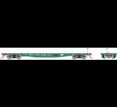 Rapido #138004A F30A 50' Flat Car: Penn Central
