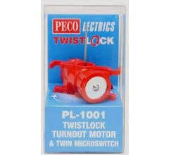 Peco #PL1001 TwistLock Turnout Motor and Micro Switch