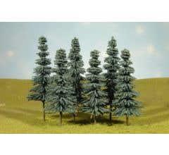 """Bachmann #32212 8"""" - 10"""" Blue Spruce Trees"""